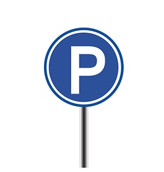 Parking sign on white background vector