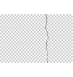 Part sheet transparent paper torn vector