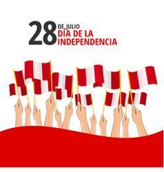 Peru independence day vector