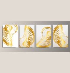Printminimal covers design metallic wave abstract vector