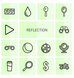 reflection icons vector image