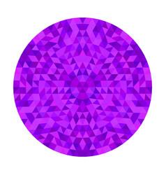 Round geometrical triangle kaleidoscope mandala vector
