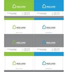 Simple house business card 2 vector