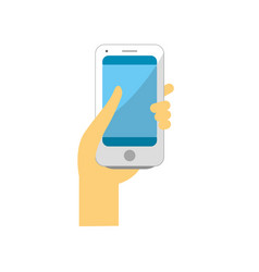 Smartphone digital technology to communication in vector