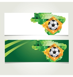 Soccer banner set Brazil summer world game vector