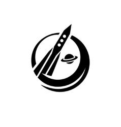 Space rocket sign vector