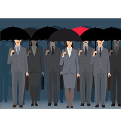Stand out from the crowd vector
