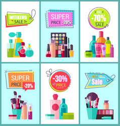 Super price for decorative and medical cosmetics vector