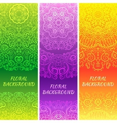 Tribal ethnic vintage banners vector