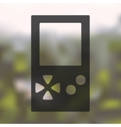 Video game icon on blurred background vector