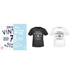 Vintage 78 t shirt print stamp vector