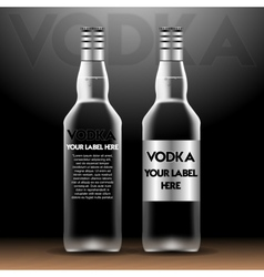vodka bottles mockup with your label here vector image
