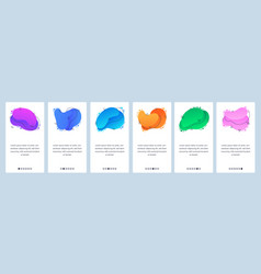website and mobile app onboarding screens vector image