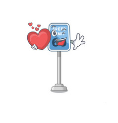 With heart speed limit isolated in mascot vector