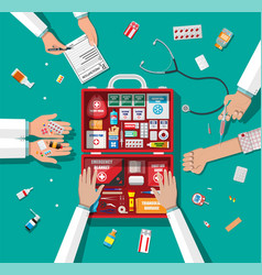 Workflow physicians vector