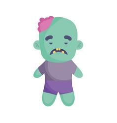 zombie costume icon trick or treat happy halloween vector image