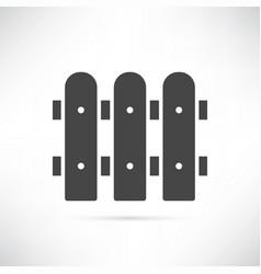 fence icon vector image vector image