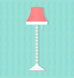 flat style floor lamp icon vector image vector image