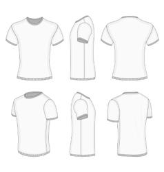 Mens white short sleeve t-shirt vector image vector image
