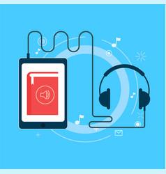 online audiobook banner vector image