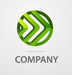 round business logo vector image vector image