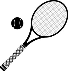tennis racket stencil vector image