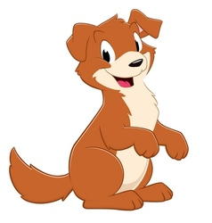 Cartoon Puppy Dog vector image vector image