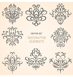 Decorative ethnic elements set vector image vector image