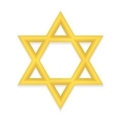 Golden hexagram icon vector