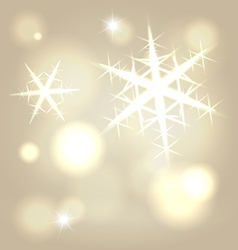 Golden snowflake background vector image vector image
