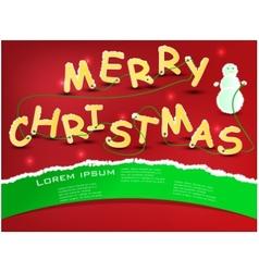 merry christmas comics vector image vector image