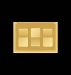 triple light switch vector image vector image