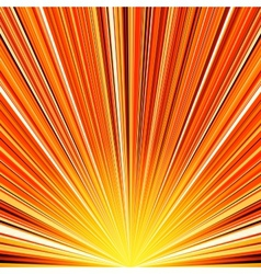 Abstract orange and yellow striped burst vector image vector image