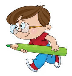 boy with a pencil vector image