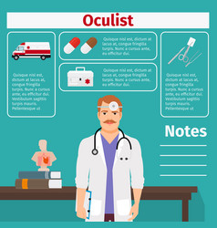 oculist and medical equipment icons vector image vector image