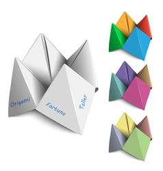 Origami Fortune Tellers vector image vector image