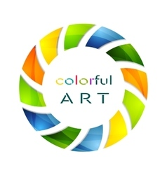 Abstract colorful circle logo background vector image vector image