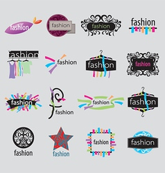 collection of logos fashion accessories vector image