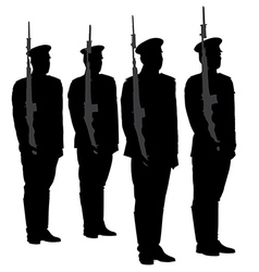 Honor Guard Silhouette vector image vector image