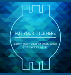 hypnotic blue futuristic template vector image