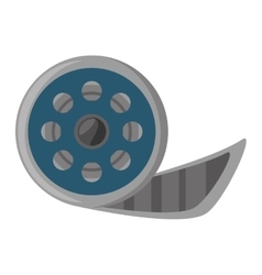 reel film movie wheel icon vector image