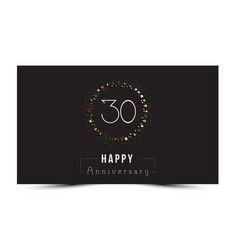 30 years happy anniversary card vector