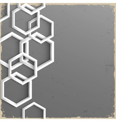 3d geometric grunge background vector image