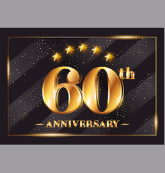 60 years anniversary celebration logotype 60th vector image