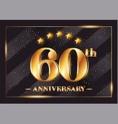 60 years anniversary celebration logotype 60th vector