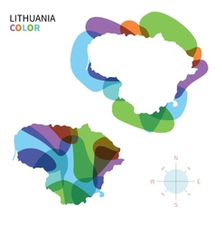 Abstract color map of Lithuania vector