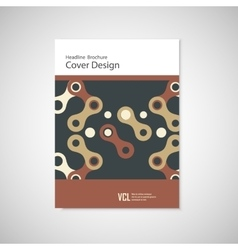 Abstract cover design business brochure template vector
