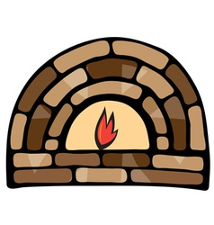 Abstract painted fireplace vector image