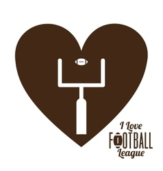 American football league design vector