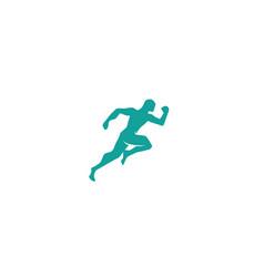 Athlete run fast speed sprinter logo design vector